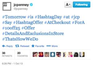 J.C. Penney Hashtags