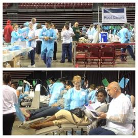 Community members receive dental services during Mission of Mercy event. Photo Credit (Bravo Group Twitter Feed @bravogroup)