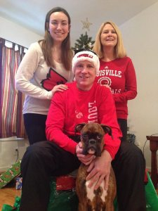 My family and I showing our University of Louisville pride for our Christmas card.